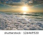 Sunrise At Dead Sea  Israel.