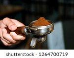 fresh ground coffee. coffee... | Shutterstock . vector #1264700719