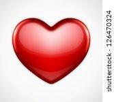 shiny heart shape vector... | Shutterstock .eps vector #126470324