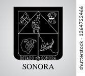 silhouette of sonora coat of... | Shutterstock .eps vector #1264722466