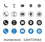 4 different contact icons | Shutterstock .eps vector #1264725463