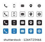 4 different contact icons | Shutterstock .eps vector #1264725466