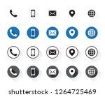 4 different contact icons | Shutterstock .eps vector #1264725469
