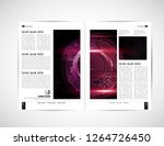 business brochure layout  vector | Shutterstock .eps vector #1264726450