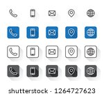4 style contact information... | Shutterstock .eps vector #1264727623