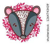 cute animal cartoon | Shutterstock .eps vector #1264743439