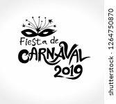 fiesta de carnaval. 2019. the...   Shutterstock .eps vector #1264750870