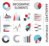 set of elements for... | Shutterstock .eps vector #1264750999