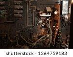 electronic circuit board close... | Shutterstock . vector #1264759183
