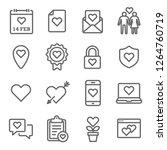 valentine's day vector line... | Shutterstock .eps vector #1264760719