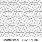 pattern with thin straight... | Shutterstock .eps vector #1264771603