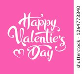 happy valentine's day lettering ... | Shutterstock .eps vector #1264773340