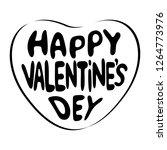 happy valentine's day lettering ... | Shutterstock .eps vector #1264773976