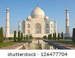 taj mahal   a famous historical ... | Shutterstock . vector #126477704