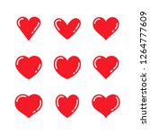 heart love symbol collection | Shutterstock .eps vector #1264777609