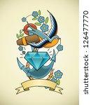 tattoo illustration   Shutterstock .eps vector #126477770