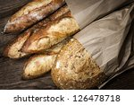 fresh baked rustic bread loaves ... | Shutterstock . vector #126478718