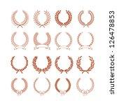set of laurel wreaths | Shutterstock .eps vector #126478853