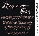 gothic vector font. vector... | Shutterstock .eps vector #1264788769