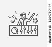 dj icon line symbol. isolated...