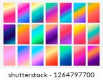 set of 21 colorful gradients.... | Shutterstock .eps vector #1264797700