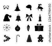 simple set of chrismas vector... | Shutterstock .eps vector #1264798450