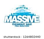massive winter clearout sale... | Shutterstock . vector #1264802440