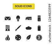 universal icons set with home ...
