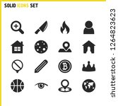 mixed icons set with real...