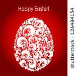 easter eggs vector illustration ...   Shutterstock .eps vector #126484154