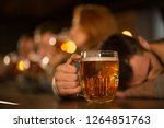 close up of beer glass and... | Shutterstock . vector #1264851763