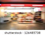 supermarket aisle. abstract blur   Shutterstock . vector #126485738