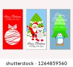 merry christmas and happy new... | Shutterstock .eps vector #1264859560