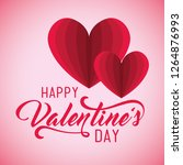 valentine day event with hearts ...   Shutterstock .eps vector #1264876993