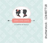 wedding invitation card... | Shutterstock .eps vector #126487718