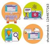 set computer and smartphone... | Shutterstock .eps vector #1264877263