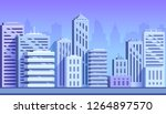blue color cityscape buildings... | Shutterstock .eps vector #1264897570
