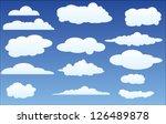 vector design set of clouds in... | Shutterstock .eps vector #126489878