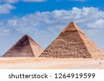 egyptian pyramids scenery with... | Shutterstock . vector #1264919599