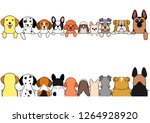 dogs border set  small and... | Shutterstock .eps vector #1264928920