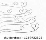 heart shaped tree hand drawing... | Shutterstock . vector #1264932826