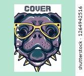 portrait of french bulldog... | Shutterstock .eps vector #1264942516