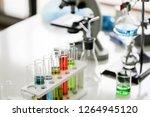 set of chemical tube... | Shutterstock . vector #1264945120
