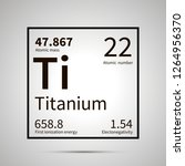 titanium chemical element with... | Shutterstock .eps vector #1264956370