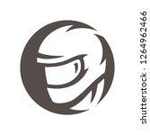 motorcycle racer silhouette sign | Shutterstock .eps vector #1264962466