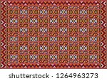 colorful oriental mosaic rug... | Shutterstock . vector #1264963273