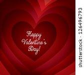 tunnel heart card in vector... | Shutterstock .eps vector #126496793