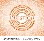 question orange mosaic emblem | Shutterstock .eps vector #1264984999