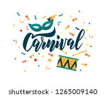 carnival hand lettering text as ... | Shutterstock .eps vector #1265009140