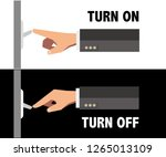 turn on and turn off the light... | Shutterstock .eps vector #1265013109